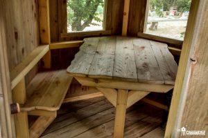Aménagement intérieur cabane sur pilotis
