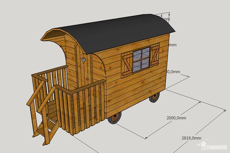 Modélisation 3D du projet de roulotte