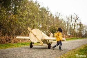 Cabane pour enfants avion en bois
